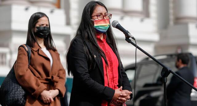 Ruth Luque, vocera de la bancada de Juntos por el Perú.