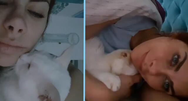 Xoana González triste por la muerte de su mascota.