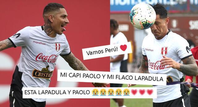 Paolo Guerrero y Gianluca Lapadula llamaron la atención en las redes sociales.