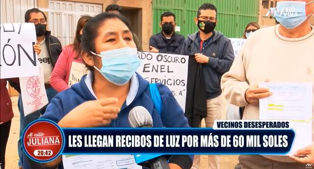 Ciudadana contó que perdió a su esposo al ver su recibo de luz. Foto: Captura de pantalla