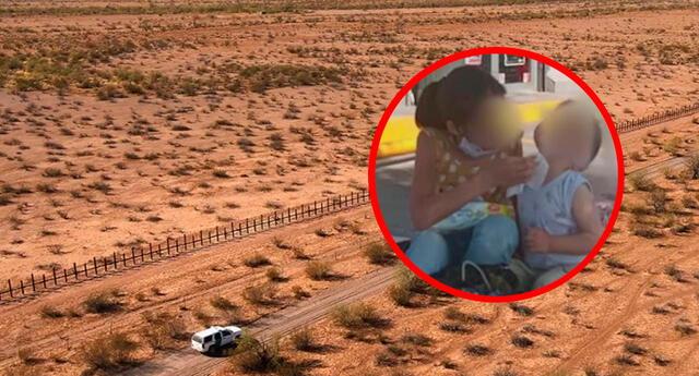 Como resultado de los peligros del desierto, la madre y su hija perdieron la vida.