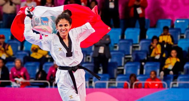 Angélica Espinoza consigue medalla de oro para el Perú tras vencer en la final de parataekwondo.