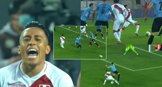 Christian Cueva tuvo en sus pies la posibilidad de poner el 2-1 para la selección peruana.