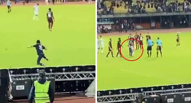 Lionel Messi ocasionó que un grupo de hinchas ingresará al campo en búsqueda de una foto. Foto: captura Instagram