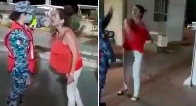 La mujer fue detenida tras agredir y golpear a la militar en el Puesto Militar de Seguridad Estratégico Querobabi.