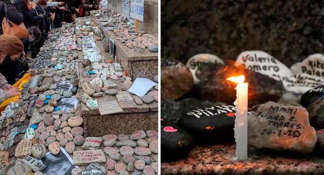 Los vecinos se fueron acercando a Plaza de Mayo en la tarde de este sábado para honrar a sus seres queridos.