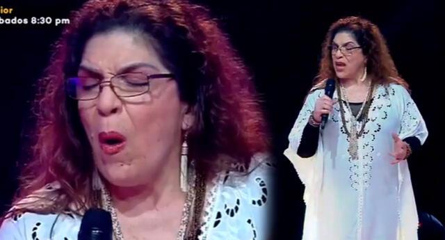 """La cantautora peruana interpretó el icónico tema de Eva Ayllón como """"Ritmo, color y sabor""""."""