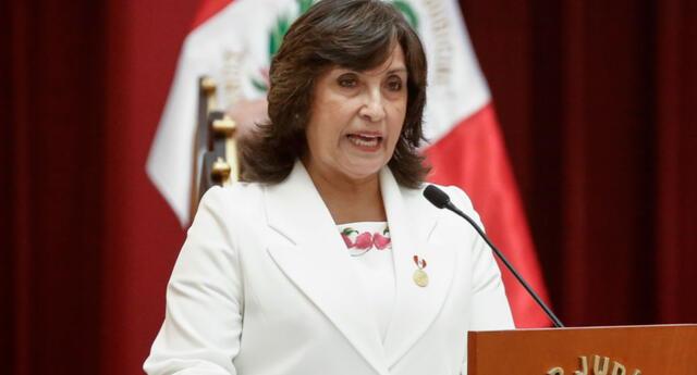 Dina Boluarte, primera vicepresidenta de la República y actual ministra de Desarrollo e Inclusión Social.
