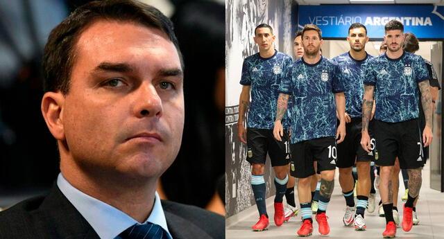 El senador brasileño Flavio Bolsonaro arremetió contra la Selección de Argentina en Twitter.