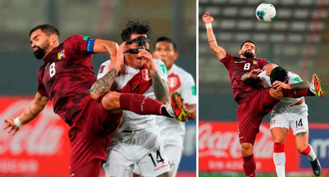 Gianluca Lapadula recibió dura entrada por parte de Tomás Rincón antes de terminar el primer tiempo del partido.