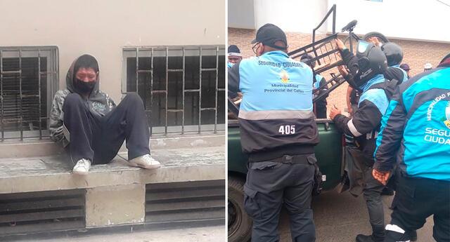 El 'robafaroles' fue intervenido en la cdra. 3 de la av. Miguel Grau.