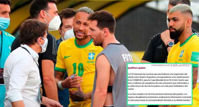 La FIFA lamentó el bochornoso momento que se vivió en el clásico de las Eliminatorias Sudamericanas.