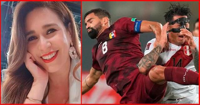Verónica Linares lamenta que Gianluca Lapadula se haya lesionado la nariz.