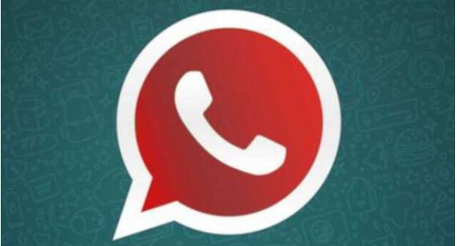 WhatsApp Plus de color rojo