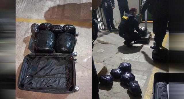 Encuentra maleta con más de 10 kilos de droga.