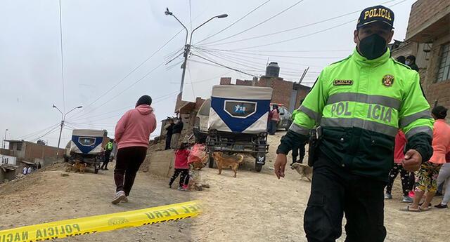 Crimen en Comas, genera indignación en los moradores por falta de presencia policial.