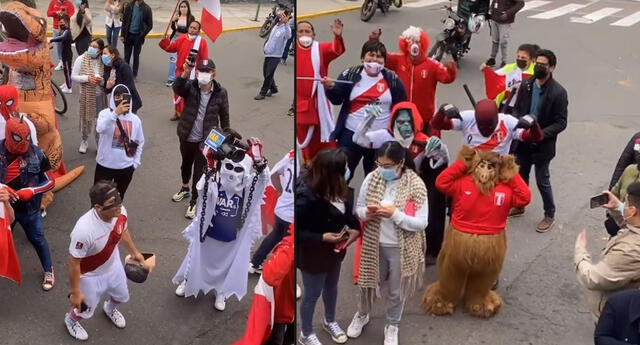 Hinchas peruanos llegaron al hotel de concentración de la selección en Miraflores.