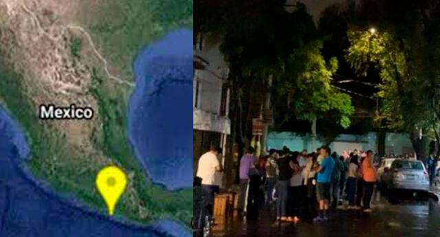 revelan imágenes de pánico tras sismo de 6.9
