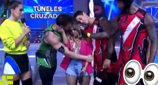 Nicola Porcella besa a Johanna San Miguel mientras llora y lo critican.