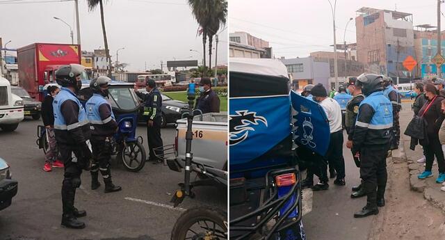 Al menos 11 mototaxistas fueron intervenidos sin licencia de conducir, sin SOAT y sin tarjeta de circulación.