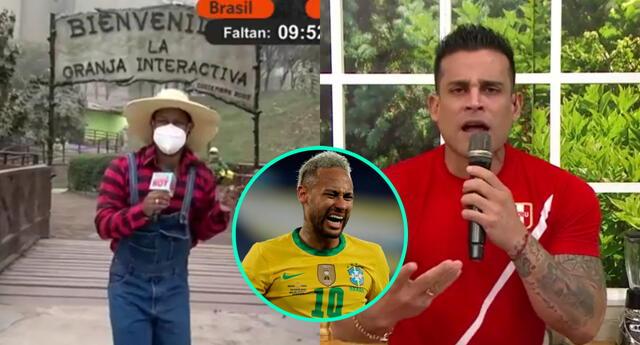 Edson Dávila salió a las calles para mostrar su apoyo a Brasil, y los conductores de América Hoy le dieron palo.
