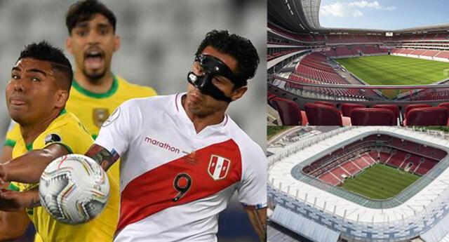 Así luce el escenario donde se enfrentará Perú ante Brasil.