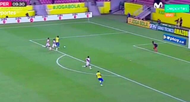 Pedro Gallese salvó el arco peruano ante el inminente ataque de Brasil.