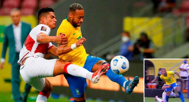 Neymar tuvo 'loco' a Santamaría, a quien lo forzó a cometer un erro en el primer gol de Brasil.
