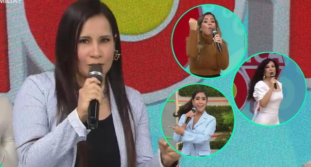 La psicóloga Lizbeth Cueva llegó al set de América Hoy, y se mostró preocupada por las conductoras, a quienes cuestionó por el problema con Christian Domínguez.