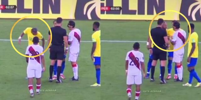 ¡Más respeto! Lapadula piso de casualidad a Neymar, se disculpó, pero el brasileño se molestó.