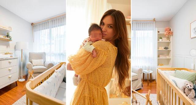 Natalie Vértiz quedó fascinada con cada detalle del cuarto de su bebé.