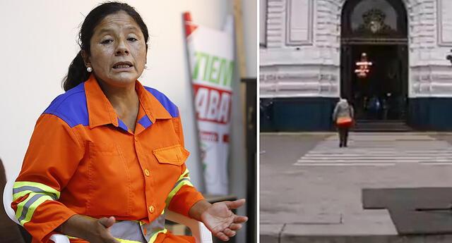 Congresista Isabel Cortez ignoró a reportero de Willax.