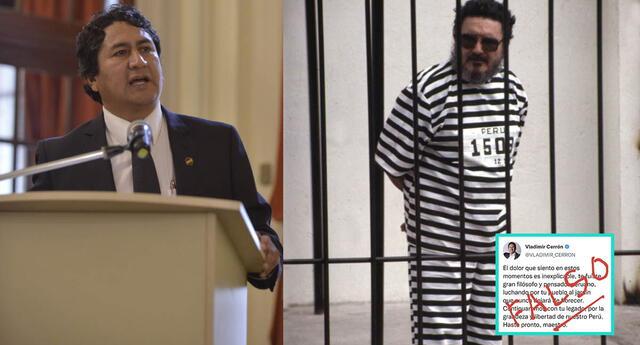 Vladimir Cerrón se pronuncia sobre supuesto mensaje a Abimael Gusmán.