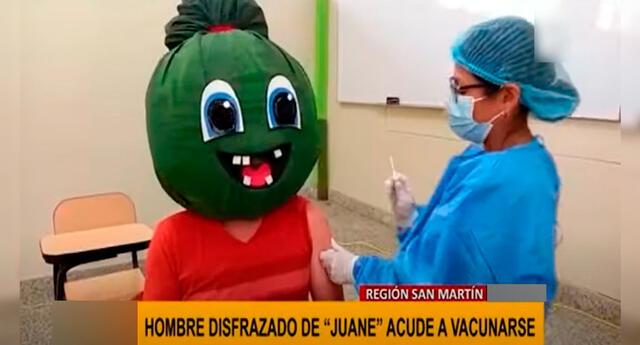 El singular atuendo de Juane se hizo viral en YouTube.
