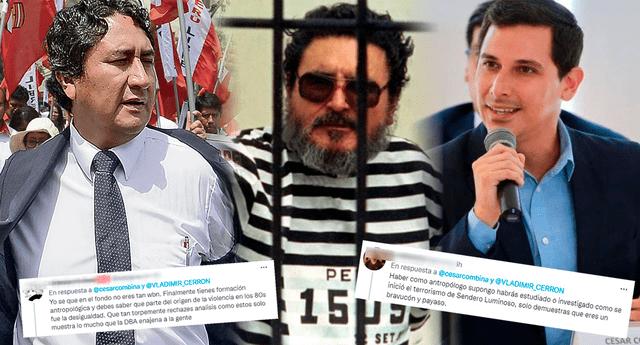 Usuarios troelan a César Combina por criticar explicación de Vladimir Cerrón sobre el terrorismo.