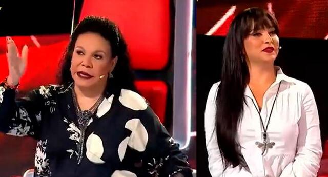 Eva Ayllón no aguanta a Daniela Darcourt en La Voz Senior.