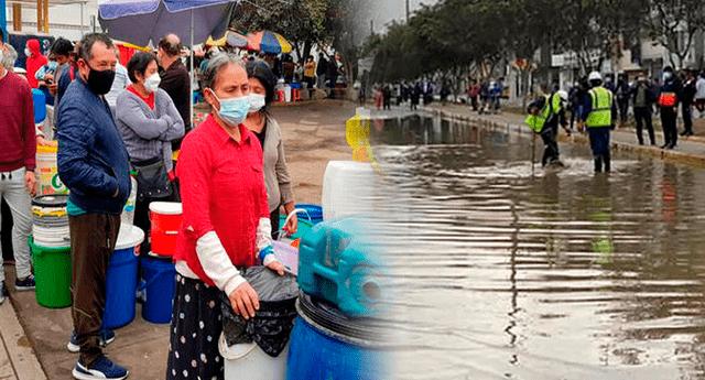 Sedapal repondrá el servicio de agua potable en San Juan de Lurigancho en las próximas 72 horas.