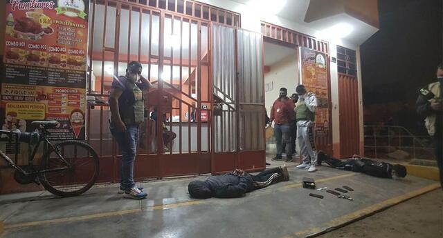 Detienen a hampones que asaltaron pollería en Carabayllo.