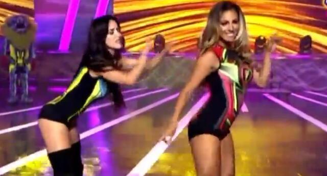 Allison Pastor y Rosángela Espinoza dieron batalla de baile.