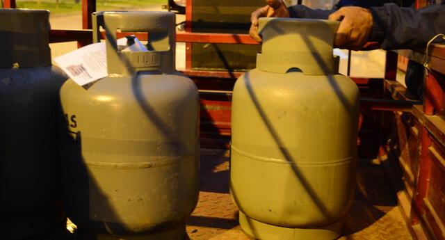 Bajó el precio del baló de gas en algunos distritos de la capital.
