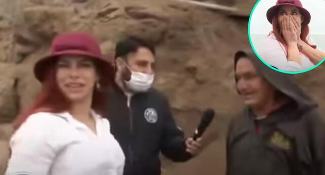 Xoana González se mudará a Chorrillos, y aprovechó en recorrer las calles, sin esperar que un fraile le haría pasar un gracioso momento.