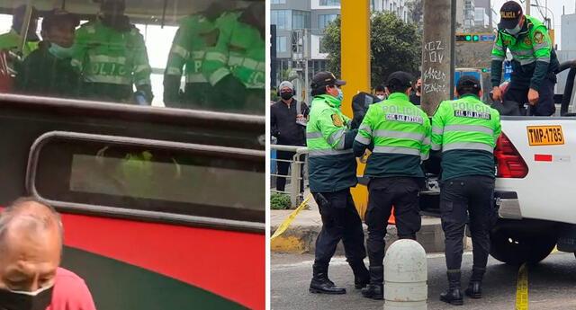 El conductor fue identificado como Eduardo Enrique Jaramillo Franco, quien ya se encuentra en la comisaría de San Antonio para pasar por los procedimientos de ley.
