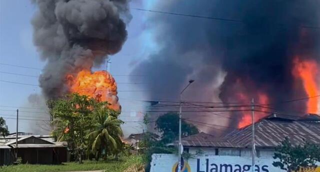 Planta de gas explosionó en Pucallpa y atemorizó a los vecinos.