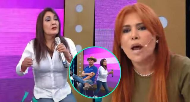 Magaly Medina invitó nuevamente a la Flor de Huaraz para que se amiste con el Gringo Karl, sin esperar que se pelearían con todo.