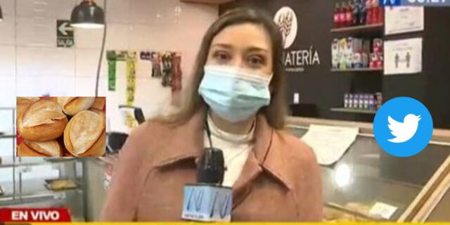 Periodista de Canal N comete blooper en vivo con el precio del pan y se hace viral. Foto: Captura de Canal N