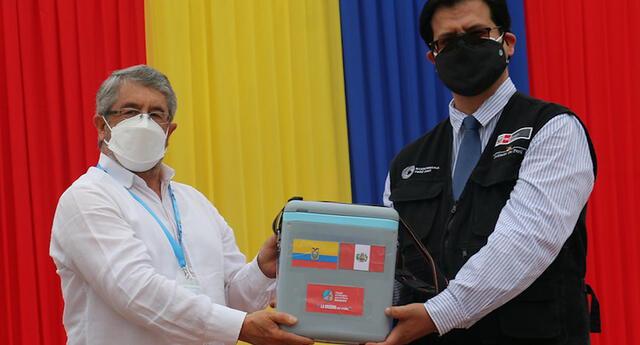 Perú y Ecuador lanzan campaña binacional de vacunación contra la COVID-19 en Tumbes