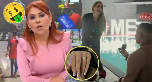 Magaly Medina revela cuánto costó la pedida de mano de Melissa Klug.