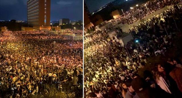 La policía no pudo establecer un operativo para disolver a la multitud.