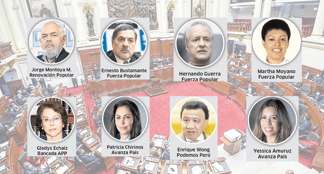 La mayoria de parlamentarios que cobraron en dinero son de Fuerza Popular y Renovación Popular