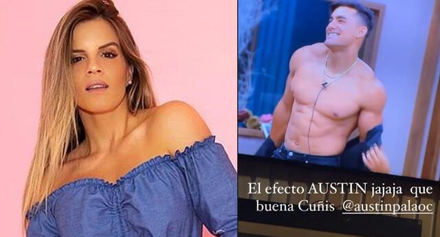 Alejandra Baigorria se ríe Austin Palao tras verlo en El Poder del Amor.